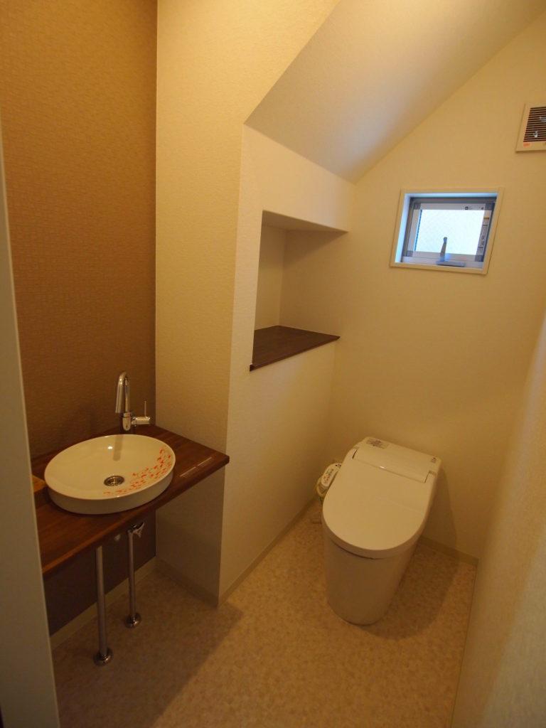 トイレ 手洗い 階段下収納