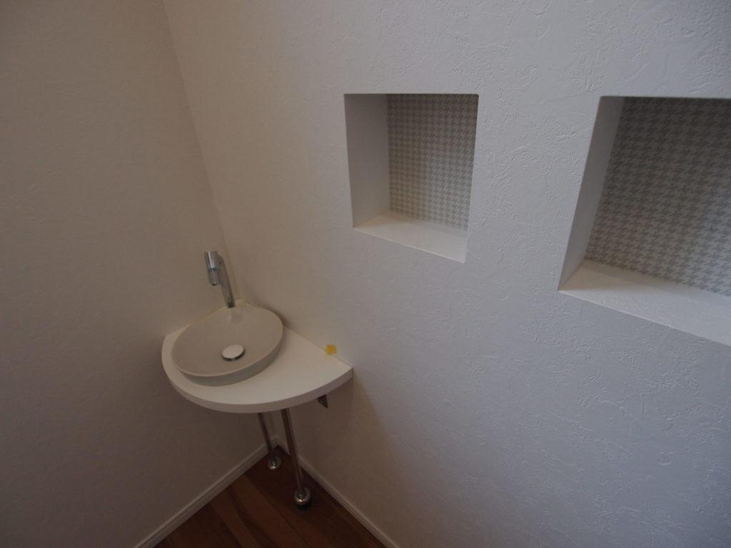 玄関前手洗い ニッチ